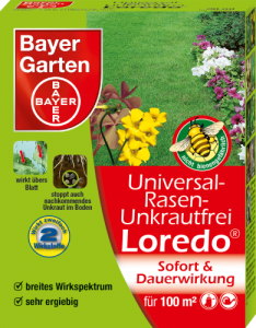 bayer garten universal rasen unkrautfrei loredo quattro 100 ml. Black Bedroom Furniture Sets. Home Design Ideas
