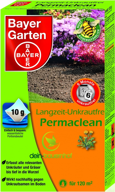 bayer garten langzeit unkrautfrei permaclean 120g. Black Bedroom Furniture Sets. Home Design Ideas