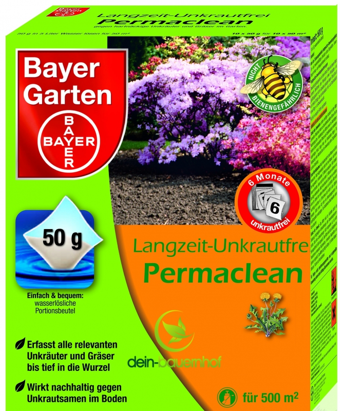 bayer langzeit unkrautfrei permaclean 500gr. Black Bedroom Furniture Sets. Home Design Ideas