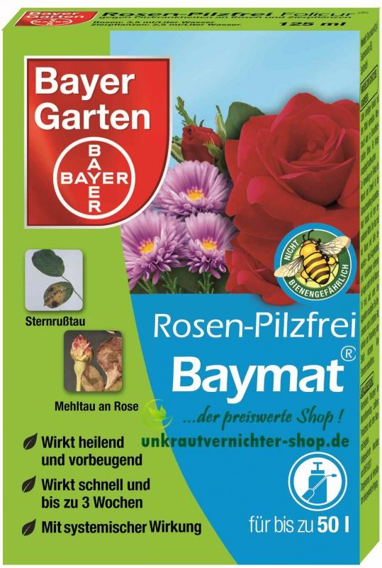 bayer garten rosen pilzfrei baymat 125 ml gegen pilzkrankheiten an. Black Bedroom Furniture Sets. Home Design Ideas