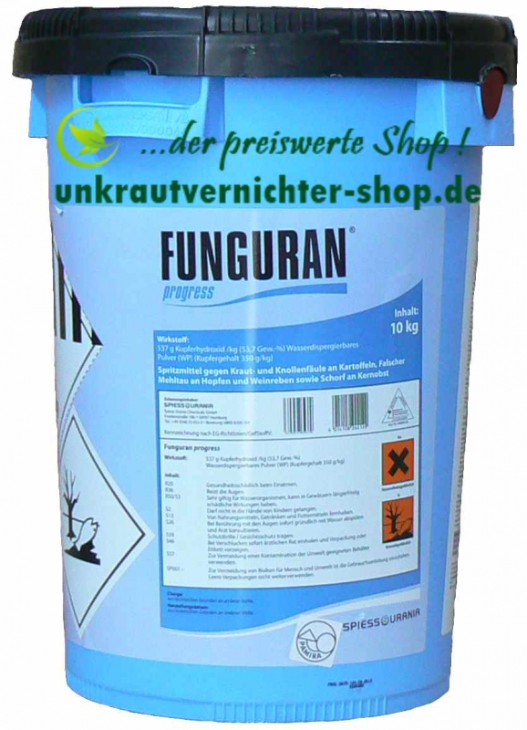 funguran progress 10 kg spritzmittel gegen kraut und. Black Bedroom Furniture Sets. Home Design Ideas