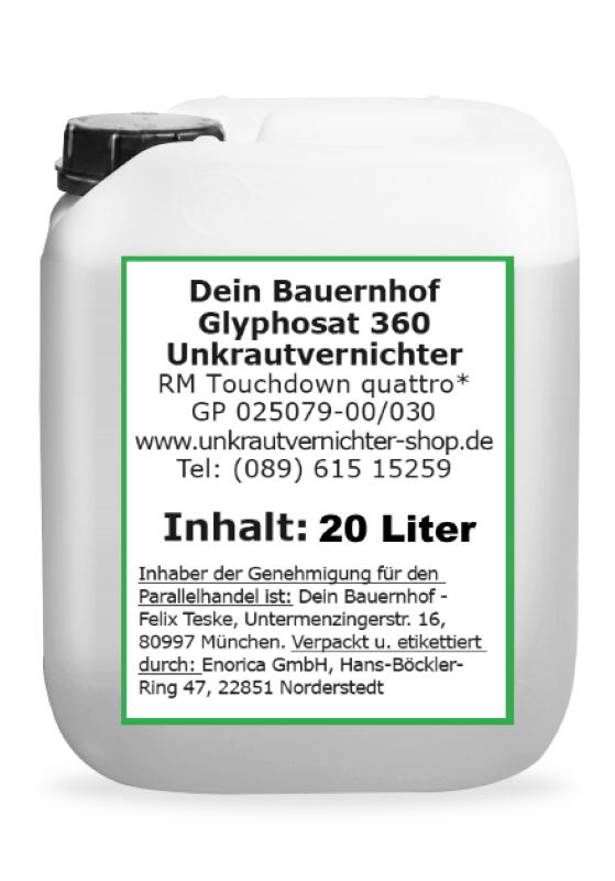 Glyphosat 360 Referenzmittel Durano 20 Liter